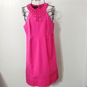 International Concepts Pink Beaded Shift Dress
